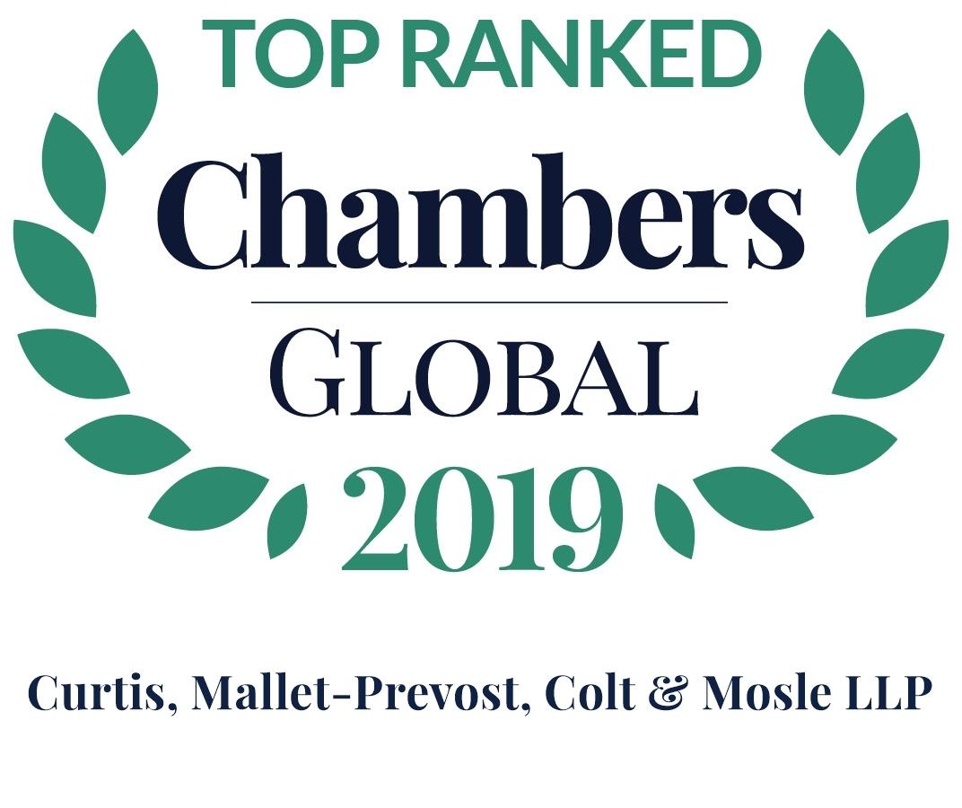 Chambers 2019 Global Rosette Firm