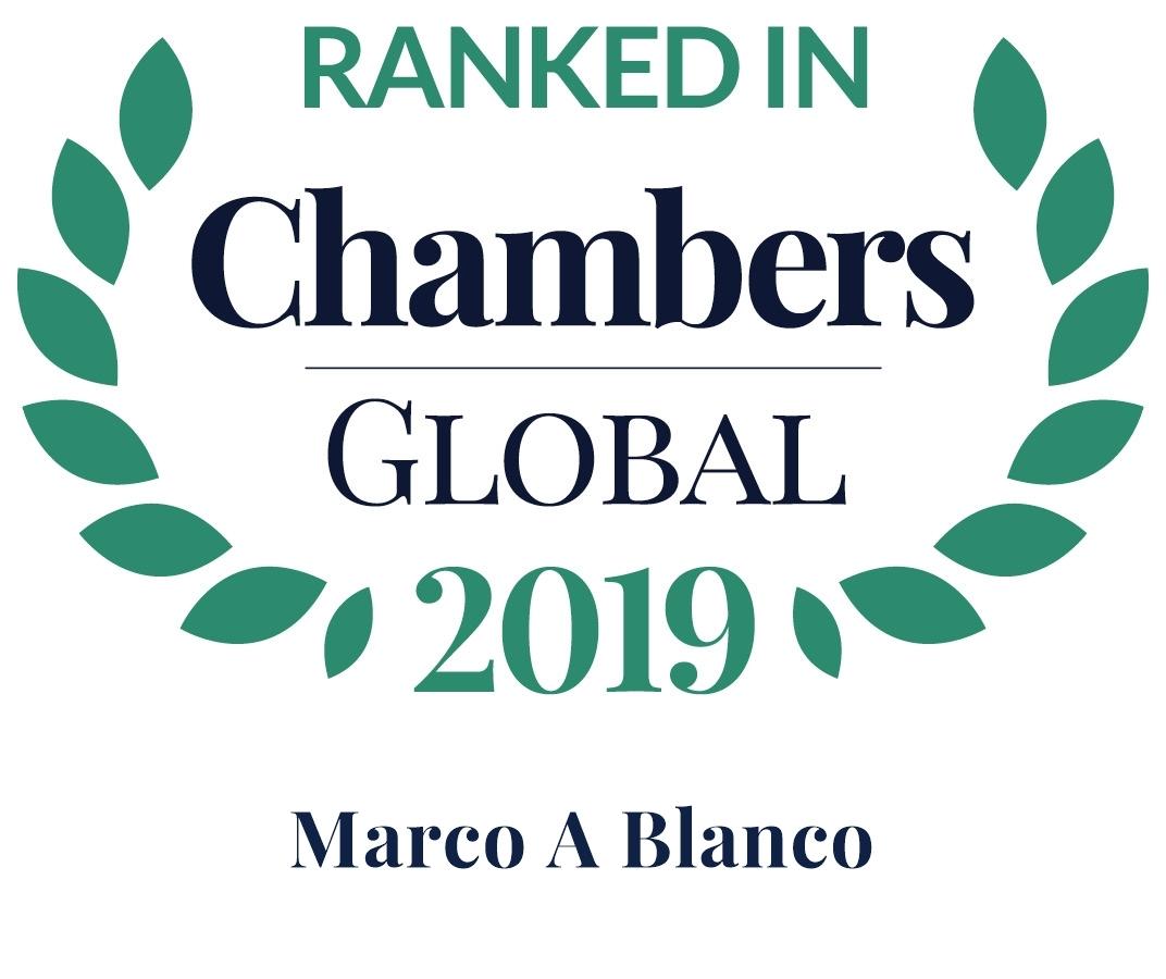 Chambers 2019 Global Rosette Marco Blanco