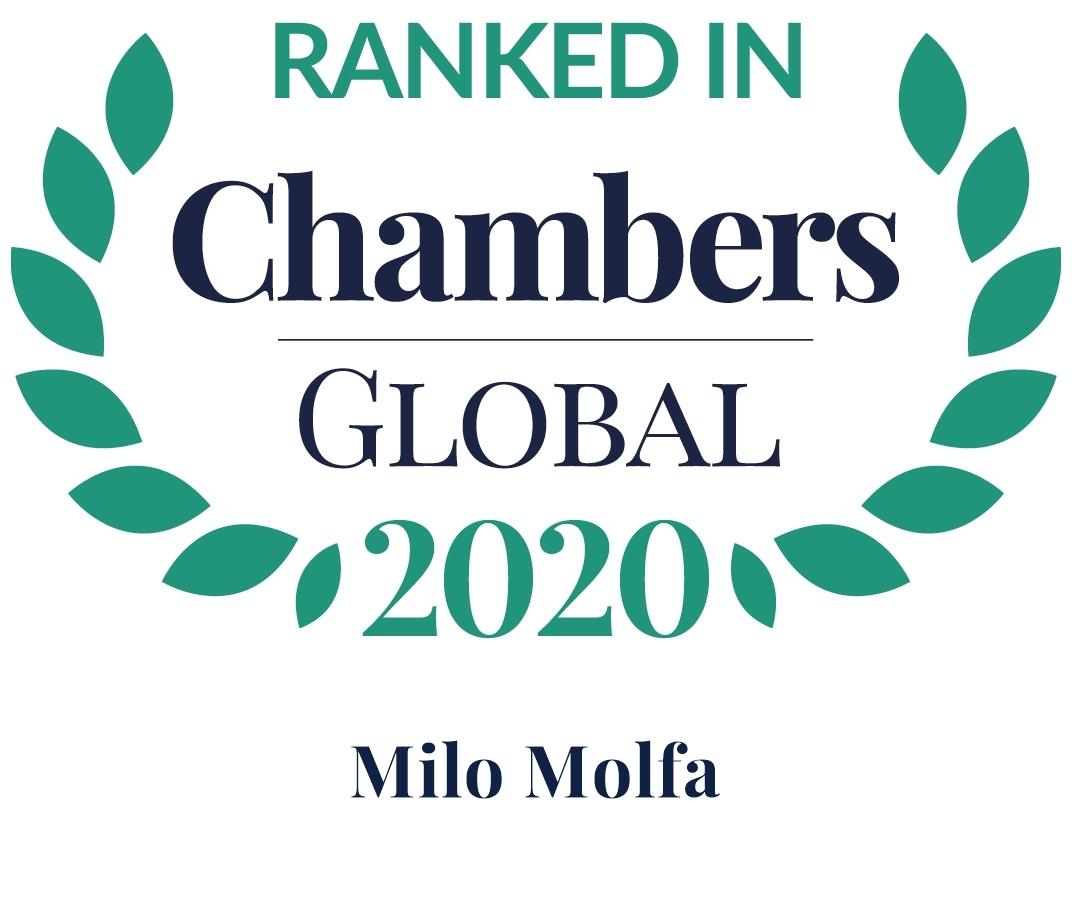 Chambers Global 2020 Milo Molfa