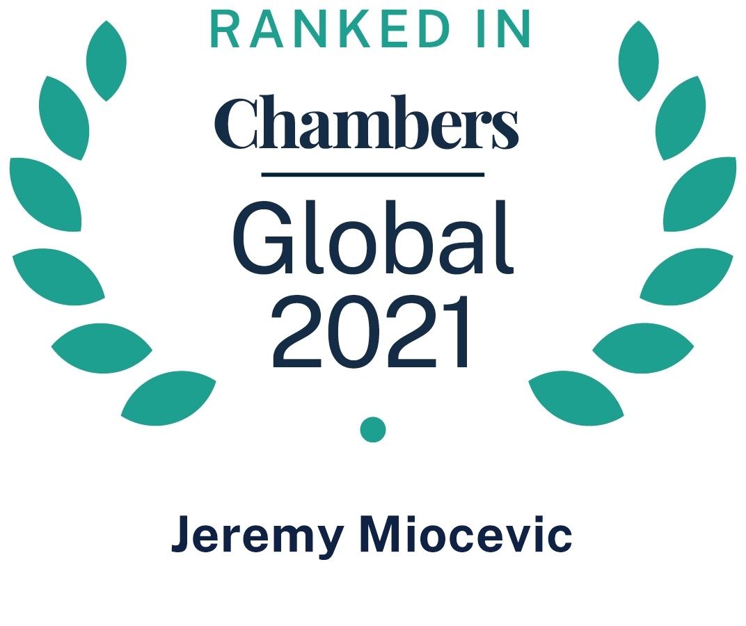 Chambers Global 2021 Jeremy Miocevic