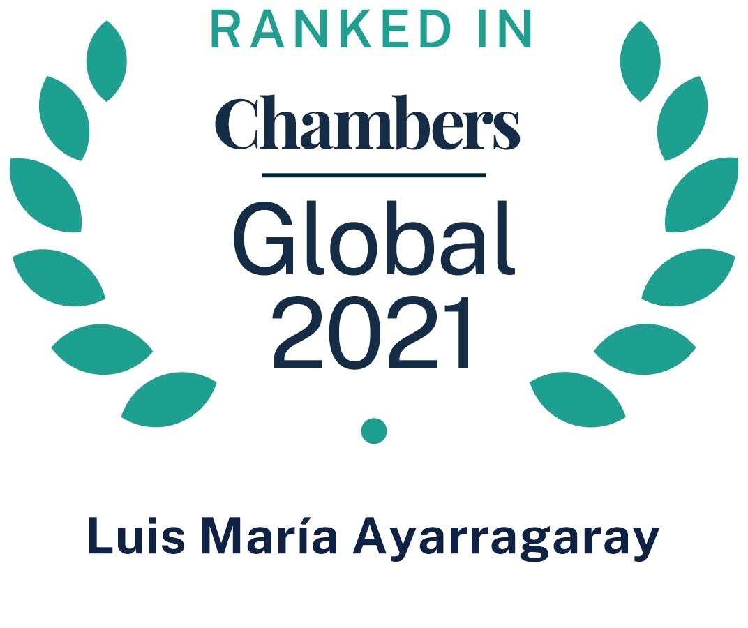 Chambers Global 2021 Luis Maria Ayarragaray
