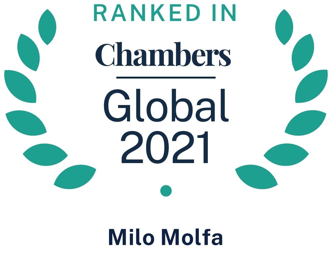 Chambers Global 2021 Milo Molfa