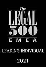 Legal 500 2021 EMEA Leading Individual