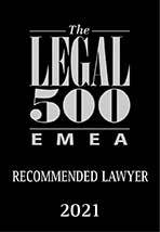 Legal 500 EMEA 2021 Recommended Lawyer