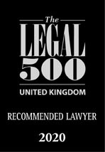 Legal 500 UK 2020 Recommended Lawyer