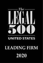 Legal 500 USA Leading Firm 2020