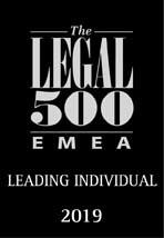 Legal 500 emea leading INDIVIDUAL 2019