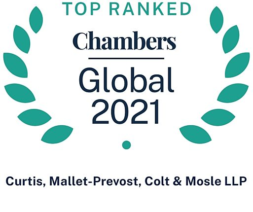 Chambers Global 2021 Recommended Firm