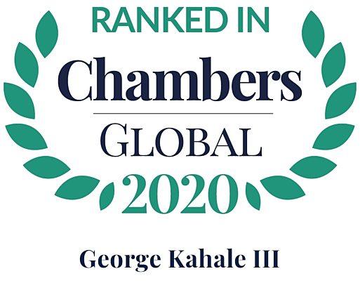 Chambers 2020 Global Rosette George Kahale