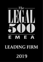 Legal 500 EMEA 2019 - Leading Firm
