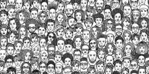 Diverse group of people Vector