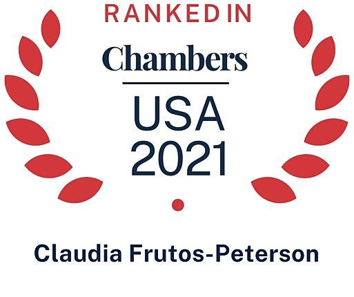2021 Chambers USA Claudia Frutos Peterson