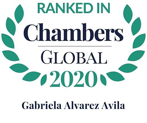 Chambers 2020 Global Rosette Gabriela Alvarez Avila