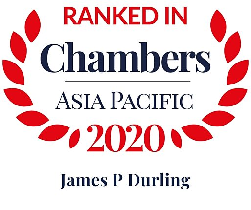 Chambers Asia Pacific 2020 james durling