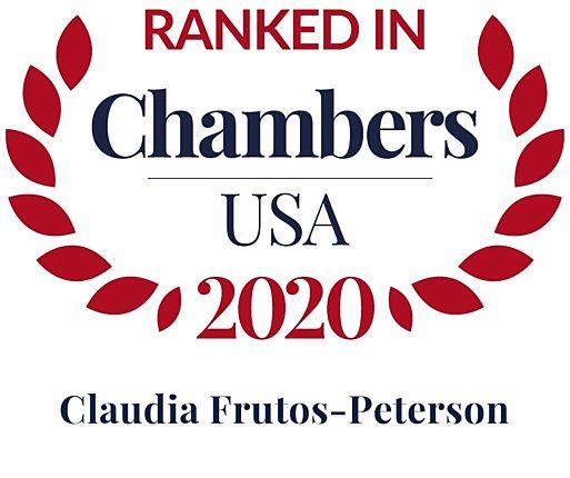 Chambers USA 2020 Claudia Frutos Peterson