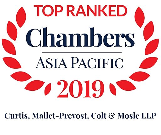 Chambers Asia Pacific 2019 Top Ranked Curtis