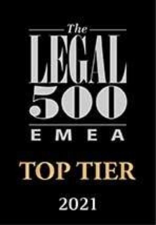 Legal 500 EMEA 2021 Top Tier