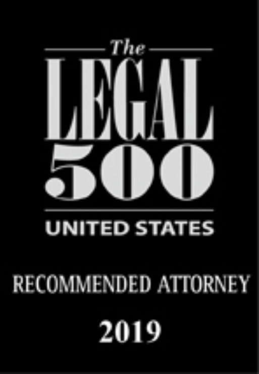 Legal 500 USA recommended attorney 2019