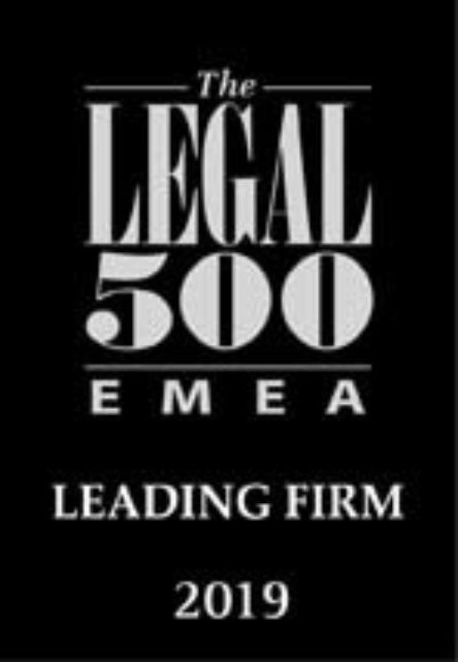 Legal 500 emea leading firm 2019